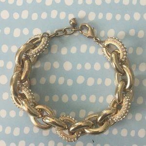 BaubleBar gold chain link bracelet